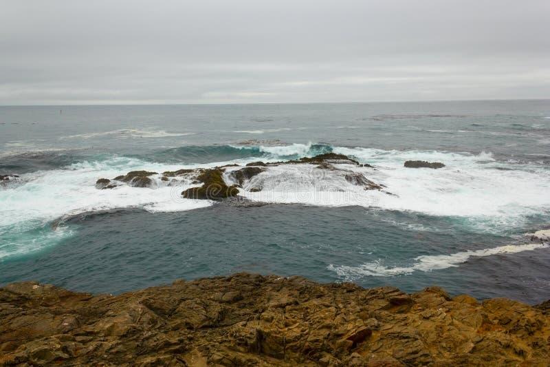 Perto do recife da costa no parque estadual dos promontório de Mendocino.