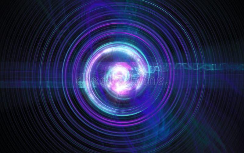 Perturbación del núcleo atómico y elemental libre illustration