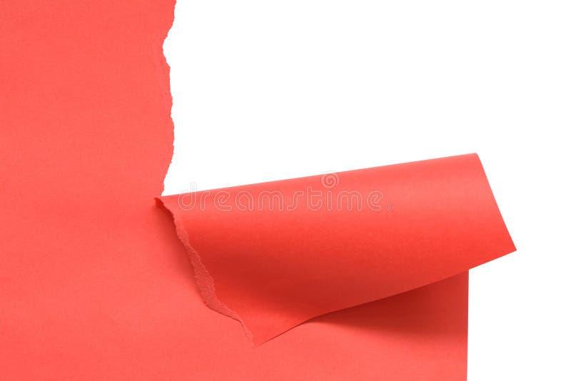 Perturbez le papier rouge photographie stock