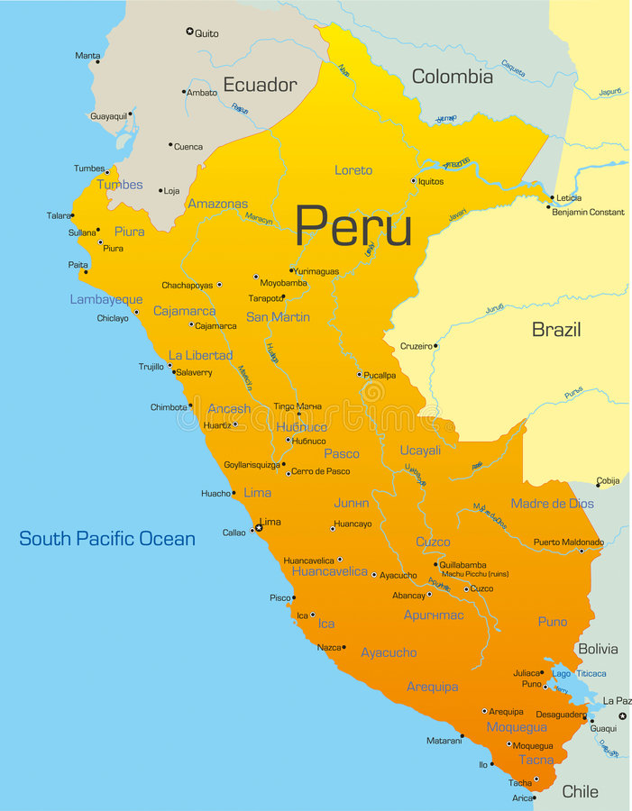 Peru stock illustratie