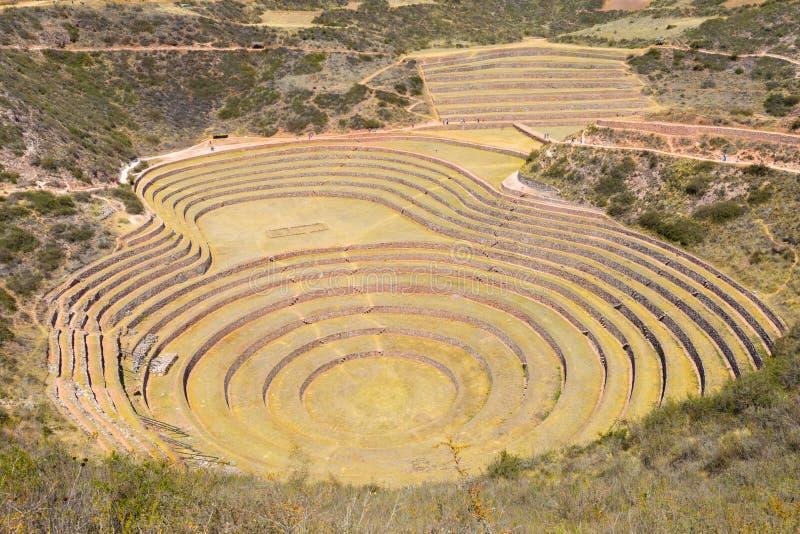 Peru arqueológico de Cuzco do local do Moray fotografia de stock
