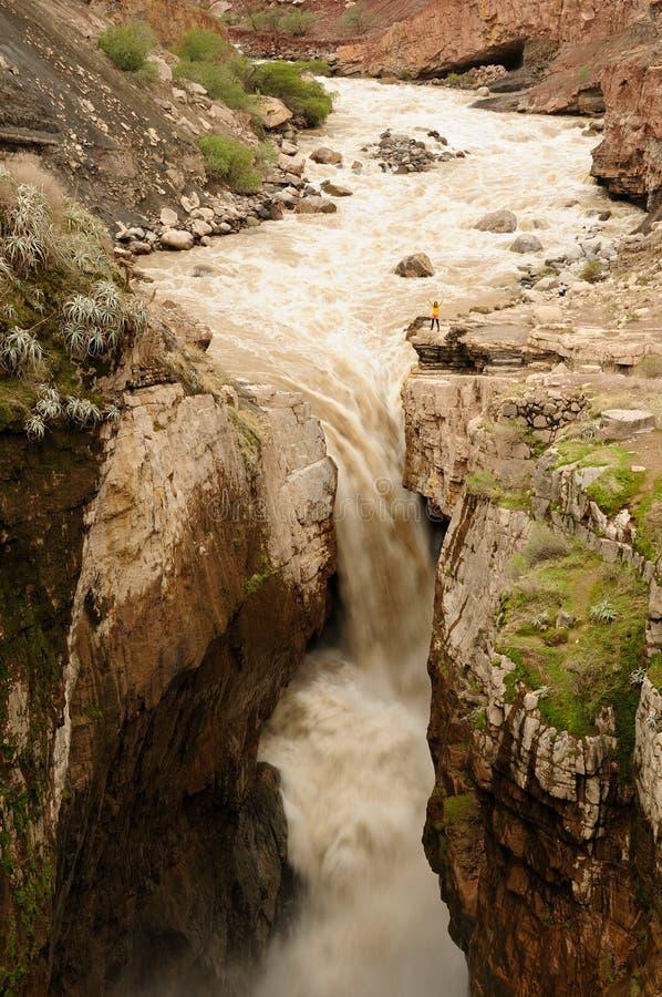 peru Cachoeira Sipia na parte inferior da garganta Cotahuasi imagem de stock royalty free