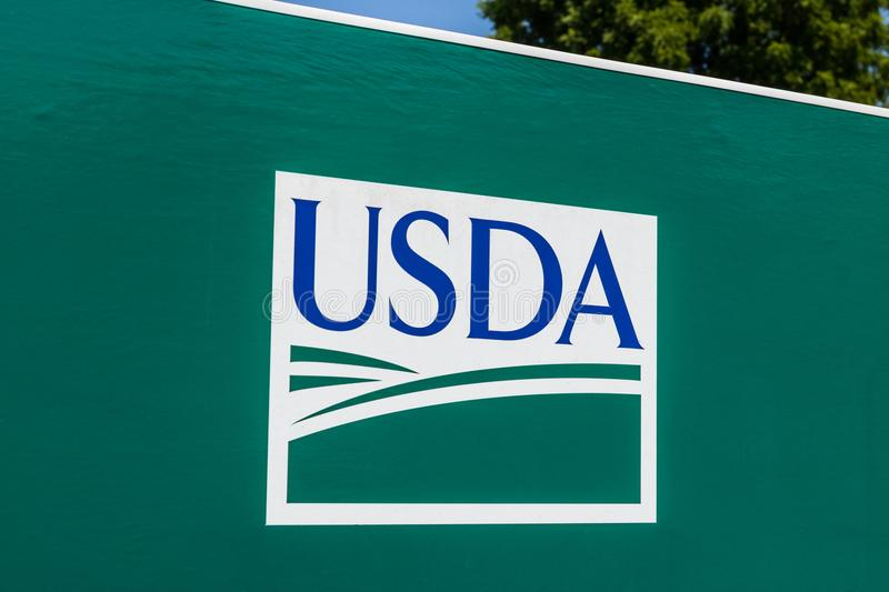 Peru - Circa August 20118: USDA Service Center. The US Department of Agriculture is responsible for laws related to farming I. USDA Service Center. The US stock photography