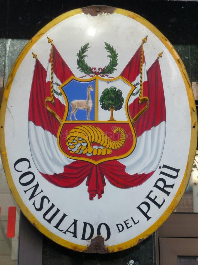 Peru Consulate Sign fotos de stock