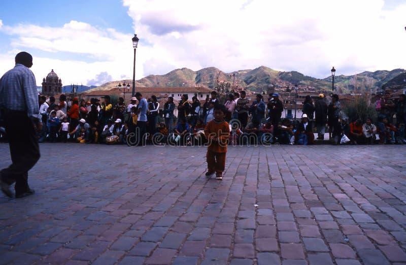 Peru Cuzco festival royaltyfria bilder