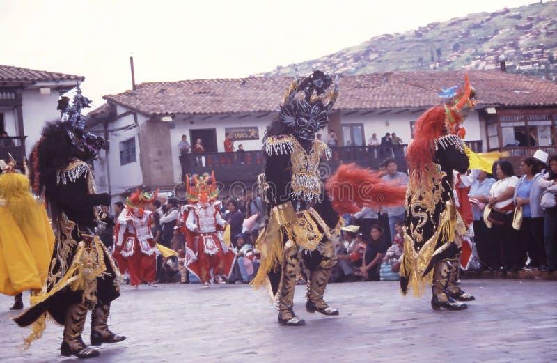 Peru Cuzco festival fotografering för bildbyråer