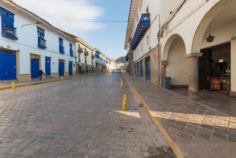 Peru de Cuzco da avenida de Espinar fotografia de stock