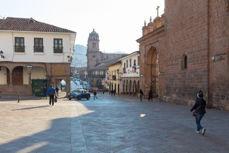 Peru de Cuzco da rua dos Mantas imagens de stock
