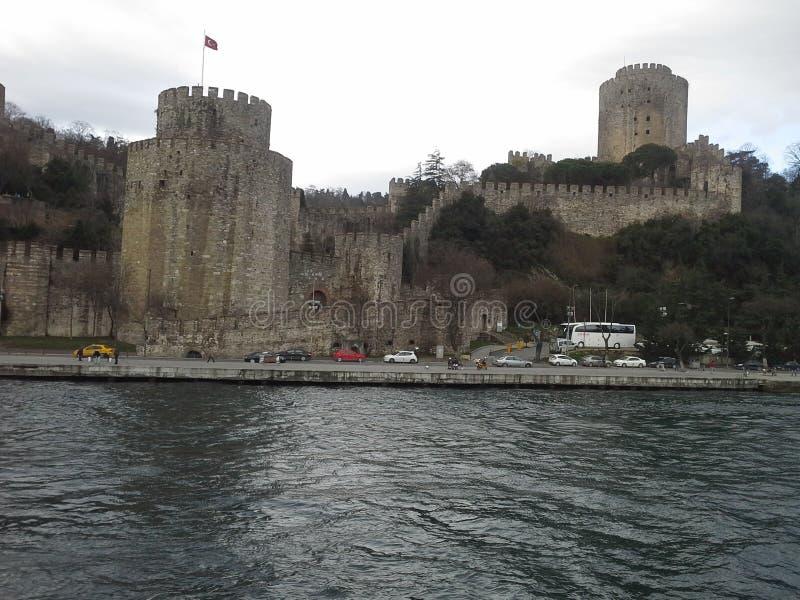Peru de Istambul do castelo de Rumeli imagens de stock