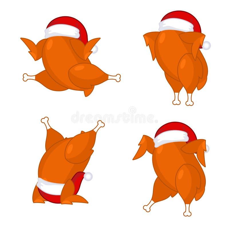 Peru do Natal no tampão de Santa ilustração do vetor