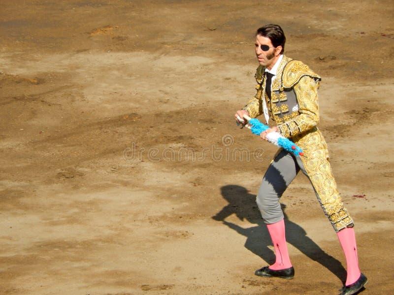 PERU - EM NOVEMBRO DE 2013: Toureiro espanhol Juan Jose Padilla imagem de stock