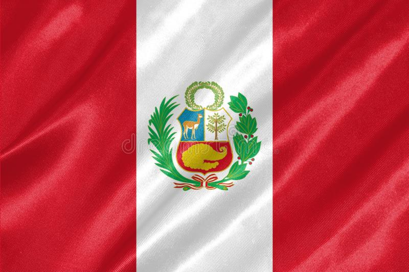 Peru Flag stock illustrationer