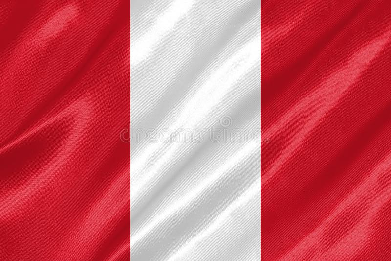 Peru Flag vektor abbildung