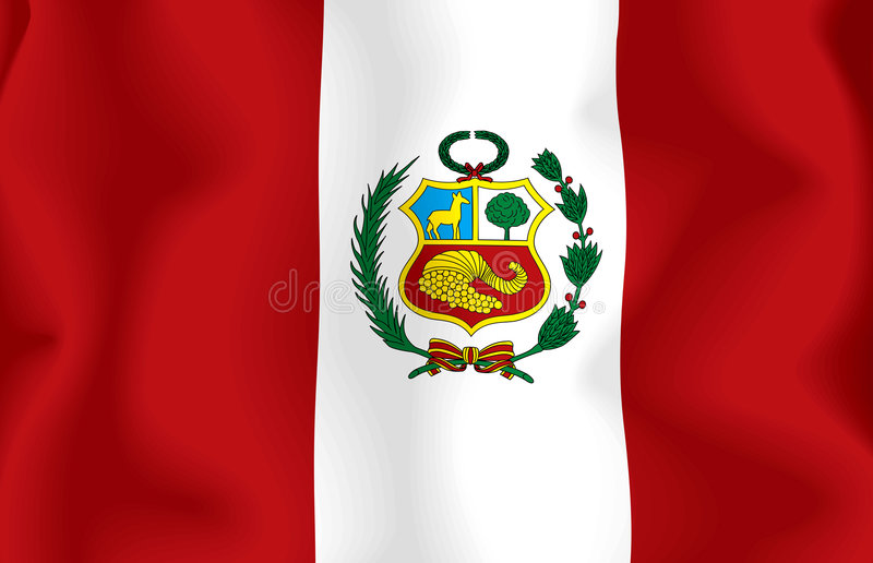 Download Peru Flag stock illustration. Image of countries, nationalism - 6955096