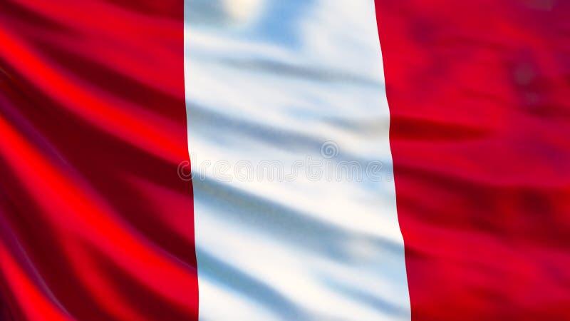 Peru Flag Drapeau de ondulation d'illustration du Pérou 3d illustration de vecteur