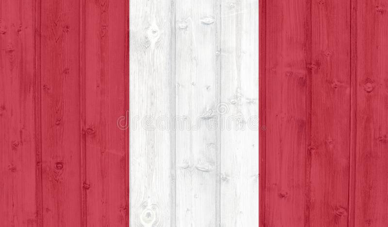 Peru Flag royaltyfri illustrationer
