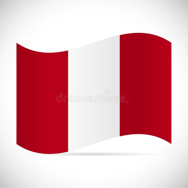 Peru Flag Illustration stock illustratie