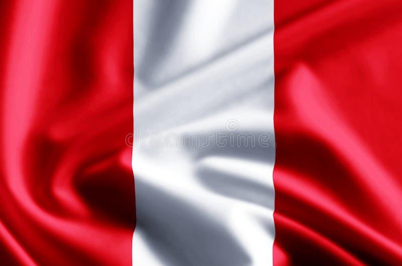 Peru Flag Illustration stock illustratie