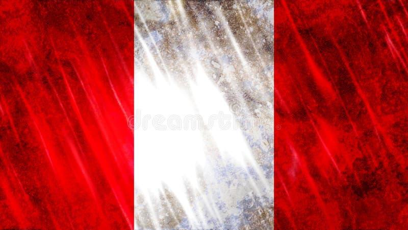 Peru Flag ilustração royalty free