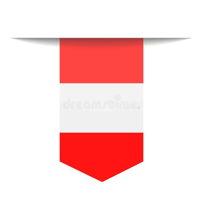 Peru Flag Vector Bookmark Icon ilustración del vector