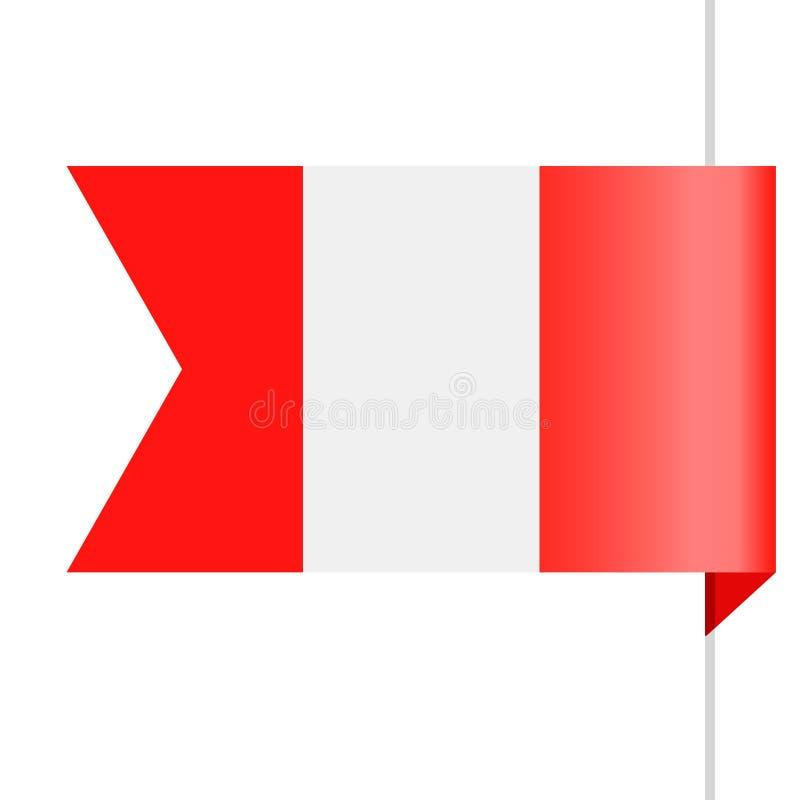 Peru Flag Vector Bookmark Icon libre illustration