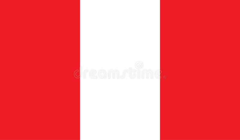 Peru flaggabild stock illustrationer