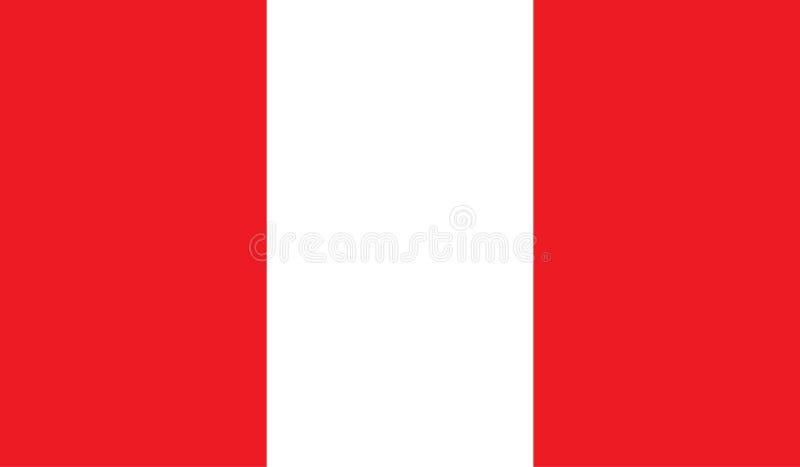 Peru-Flaggenbild stock abbildung