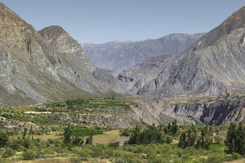 Peru, garganta de Cotahuasi A garganta a mais profunda dos wolds foto de stock royalty free
