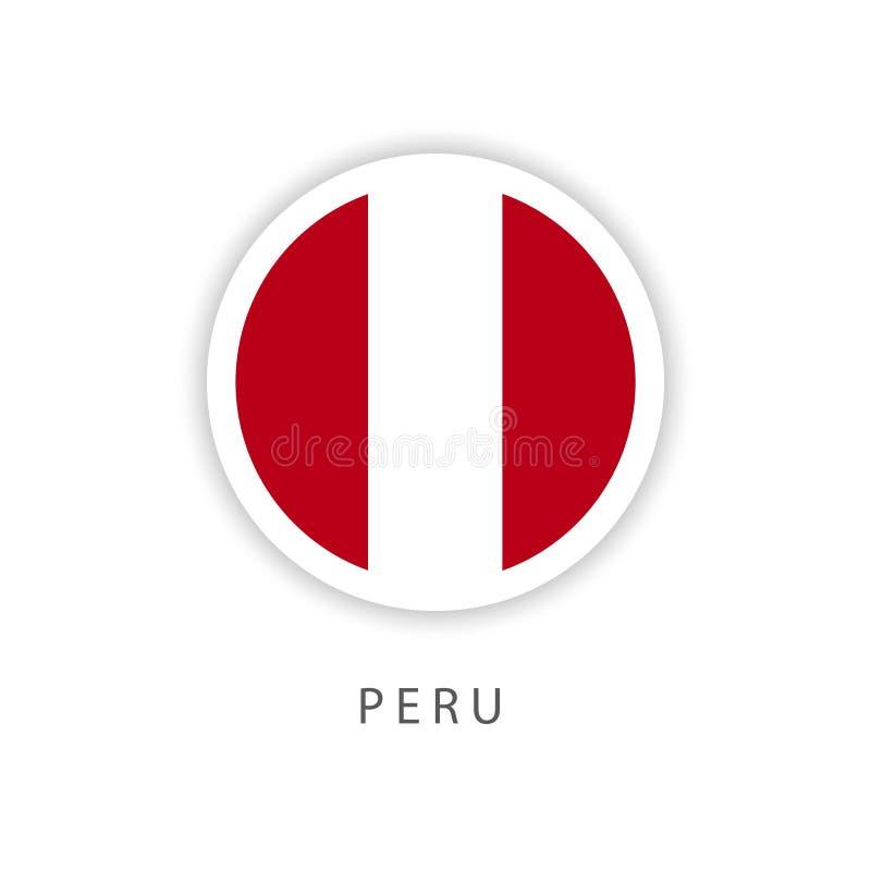 Peru guzika flagi szablonu projekta Wektorowy ilustrator royalty ilustracja
