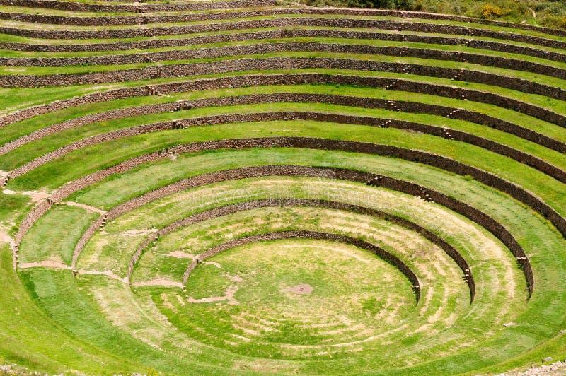 Peru, heiliges Tal-Inka-Labor der Landwirtschaft stockbilder