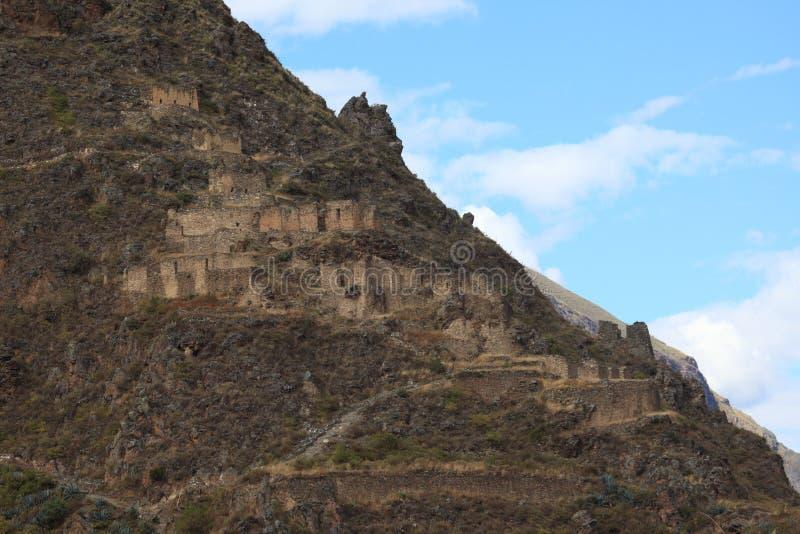 Peru Inca City Ollantaytambo imagens de stock royalty free