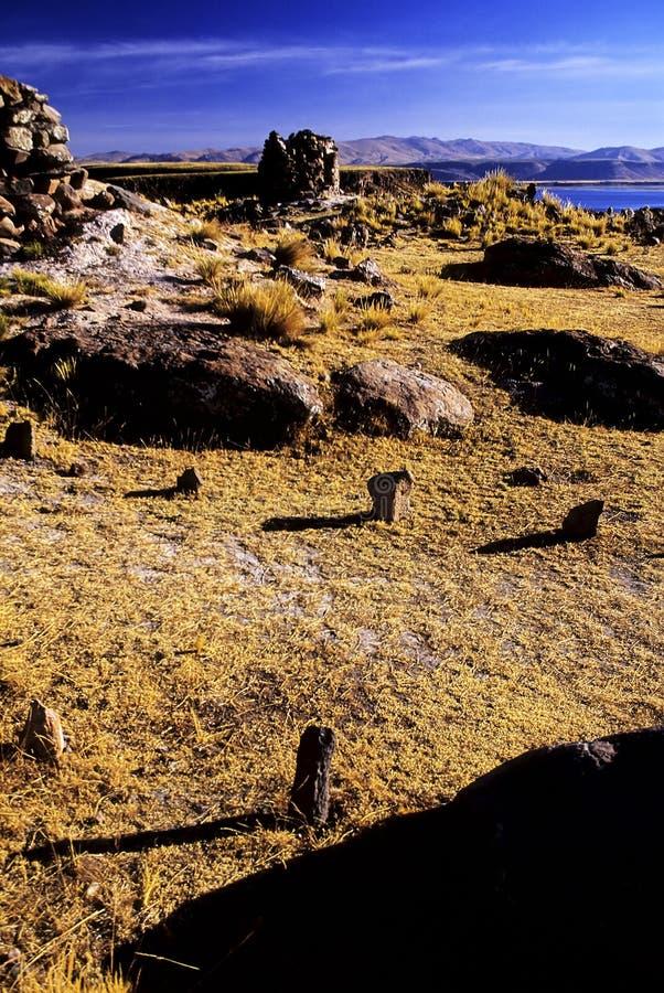 Peru incan ruin pogrzebowe zdjęcia royalty free