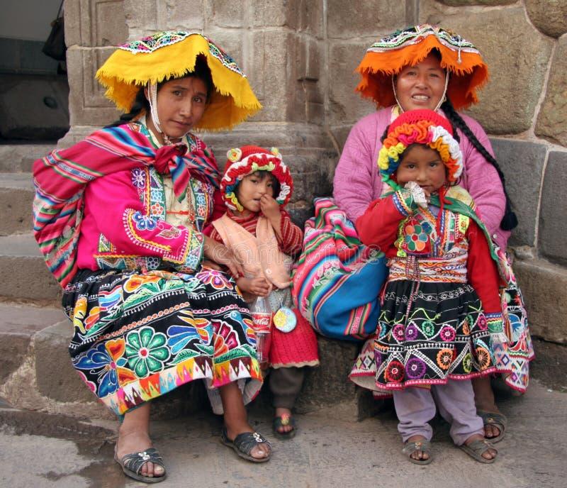 Peru Indiërs royalty-vrije stock foto