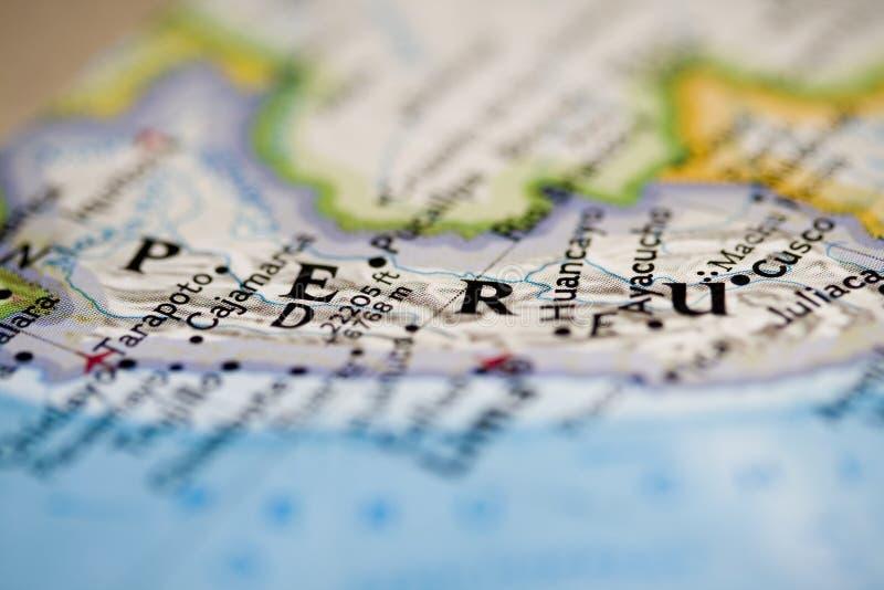 Peru-Karte lizenzfreies stockbild