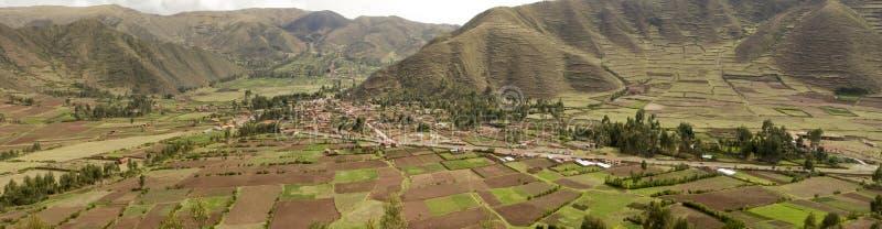 Peru-Landseite panoramisch stockbild