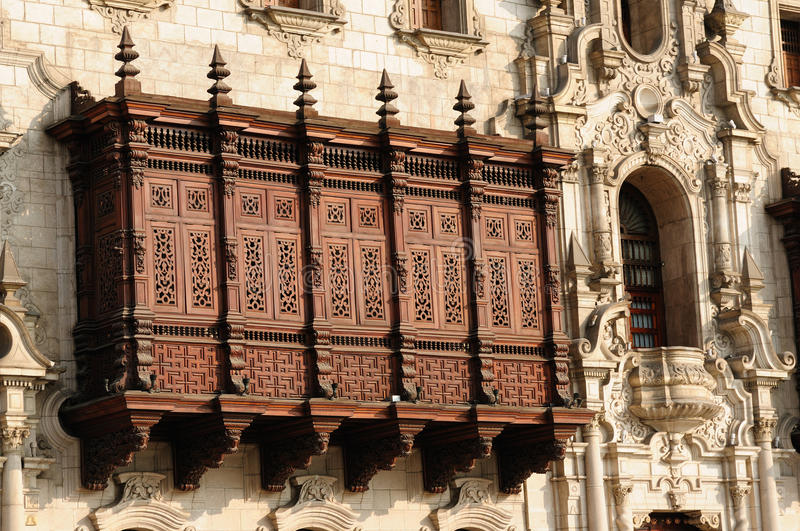 Peru, Lima, Arzobispal Palace stock image