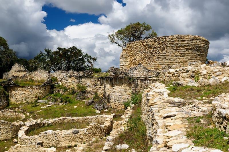 Peru, local arqueológico extraordinário de Kuelap perto de Chachapoyas fotos de stock royalty free