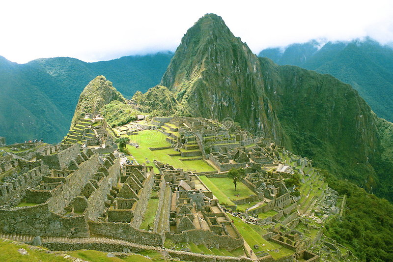 Peru - Machu Picchu. Lost Inca City of Machu Picchu in Peru royalty free stock photography