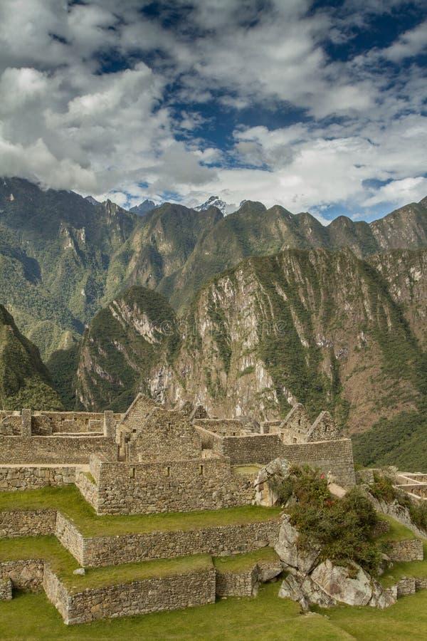 Peru machu picchu Antyczny inka miasto, lokalizować na Peru przy górą, cud świat zdjęcia stock