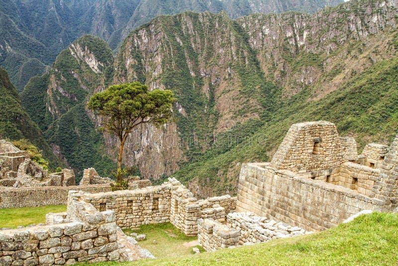 Peru machu picchu Antyczny inka miasto, lokalizować na Peru przy górą, Nowy cud świat obraz stock