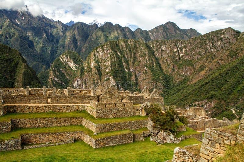 Peru machu picchu Antyczny inka miasto, lokalizować na Peru przy górą, Nowy cud świat fotografia royalty free