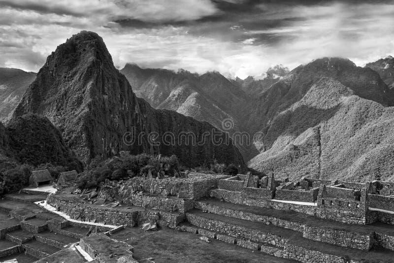 Peru machu picchu Antyczny inka miasto, lokalizować na Peru przy górą, Nowy cud świat obraz royalty free