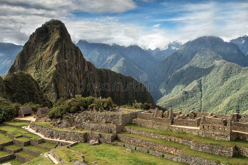 Peru machu picchu Antyczny inka miasto, lokalizować na Peru przy górą, Nowy cud świat obrazy royalty free