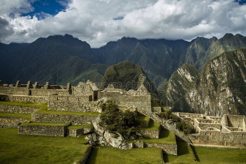 Peru machu picchu Antyczny inka miasto, lokalizować na Peru przy górą, Nowy cud świat obrazy stock
