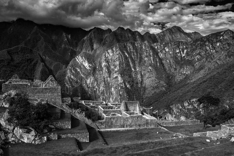 Peru machu picchu Antyczny inka miasto, lokalizować na Peru przy górą, Nowy cud świat zdjęcia royalty free