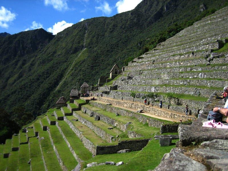 Peru: Machu Pichu, patrimônio mundial do Unesco no Andines imagem de stock