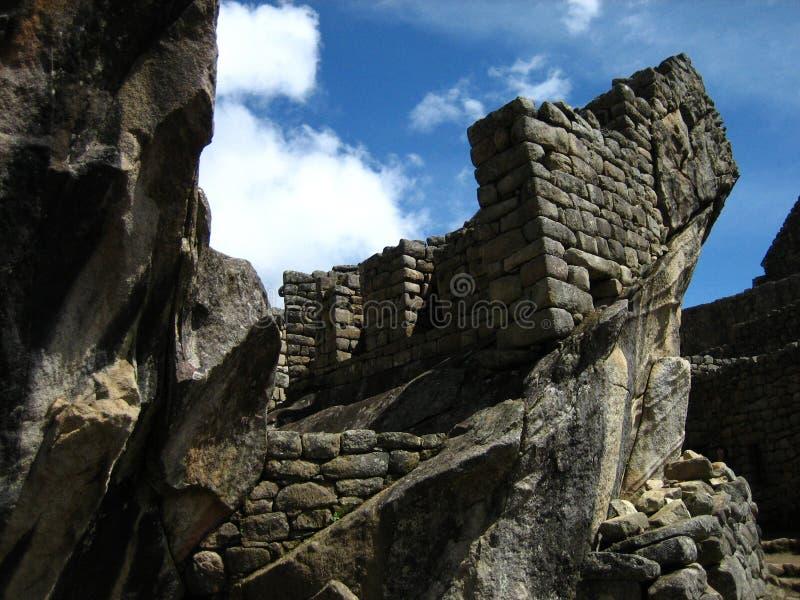 Peru: Machu Pichu, patrimônio mundial do Unesco no Andines imagens de stock