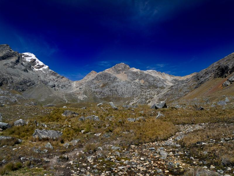 Peru, massief Cordillerablanca royalty-vrije stock fotografie