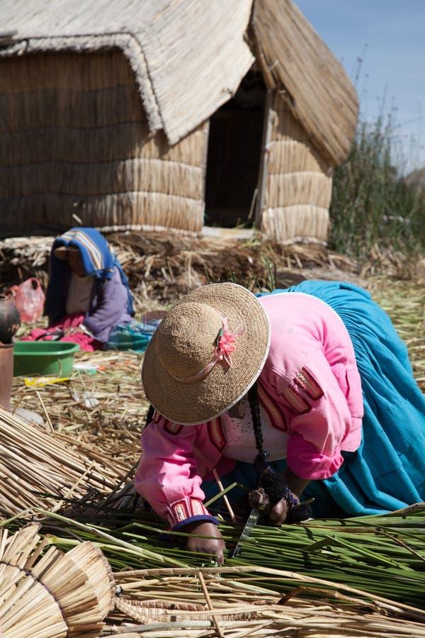 Peru, Meer Titicaca stock fotografie