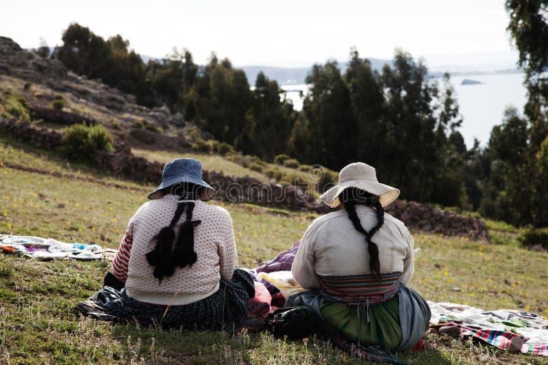 Peru, Meer Titicaca royalty-vrije stock foto